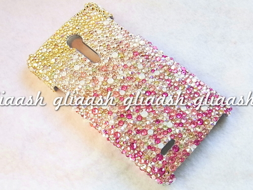 Flower Shower Swarovski Decoration Smartphone Cover