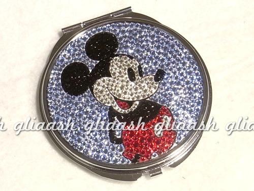 Mickey mouseミッキーマウスディズニーデコキラキラミラー