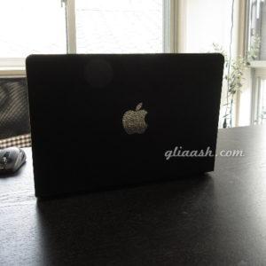 Macbookアップルマークデコ
